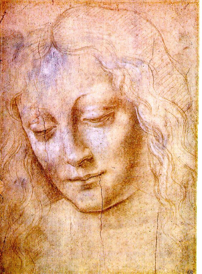Leonardo da Vinci's drawing of the head of a young woman